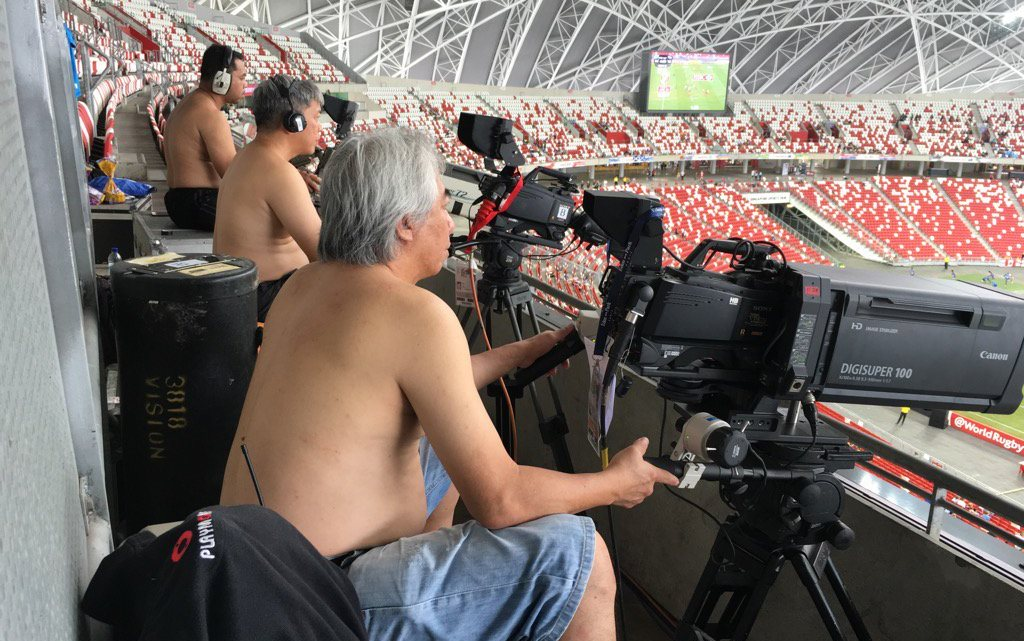 TV crew at the Singapore7s