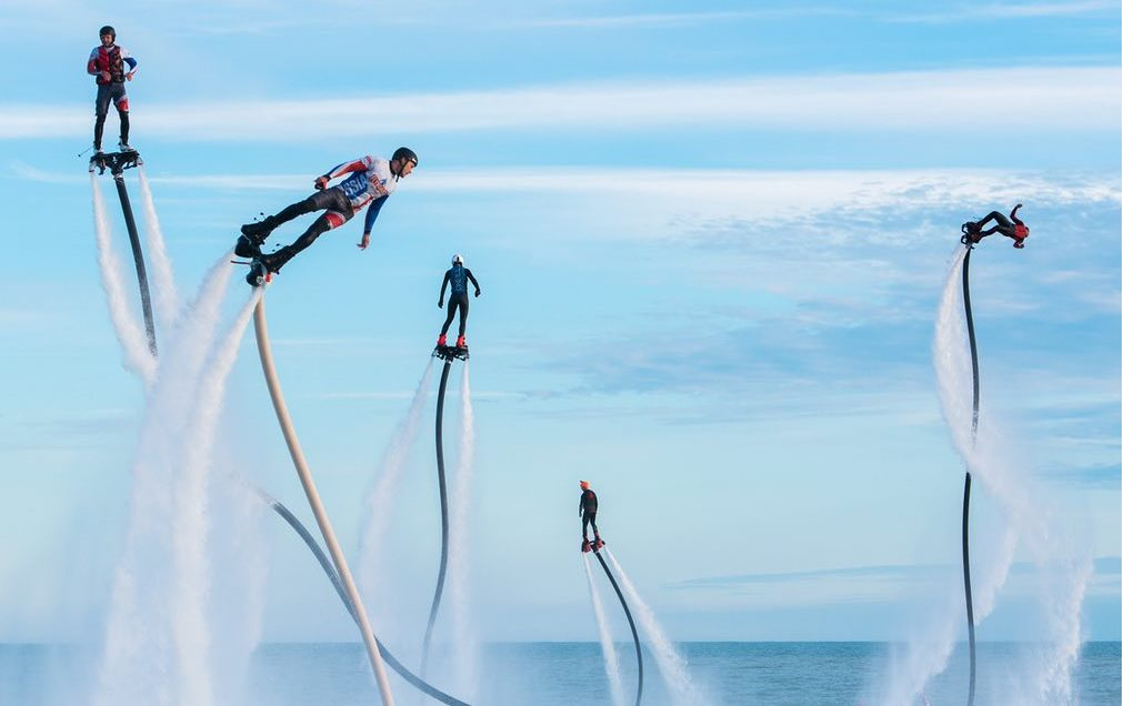 Flyboard international extreme water sports festival Sochi