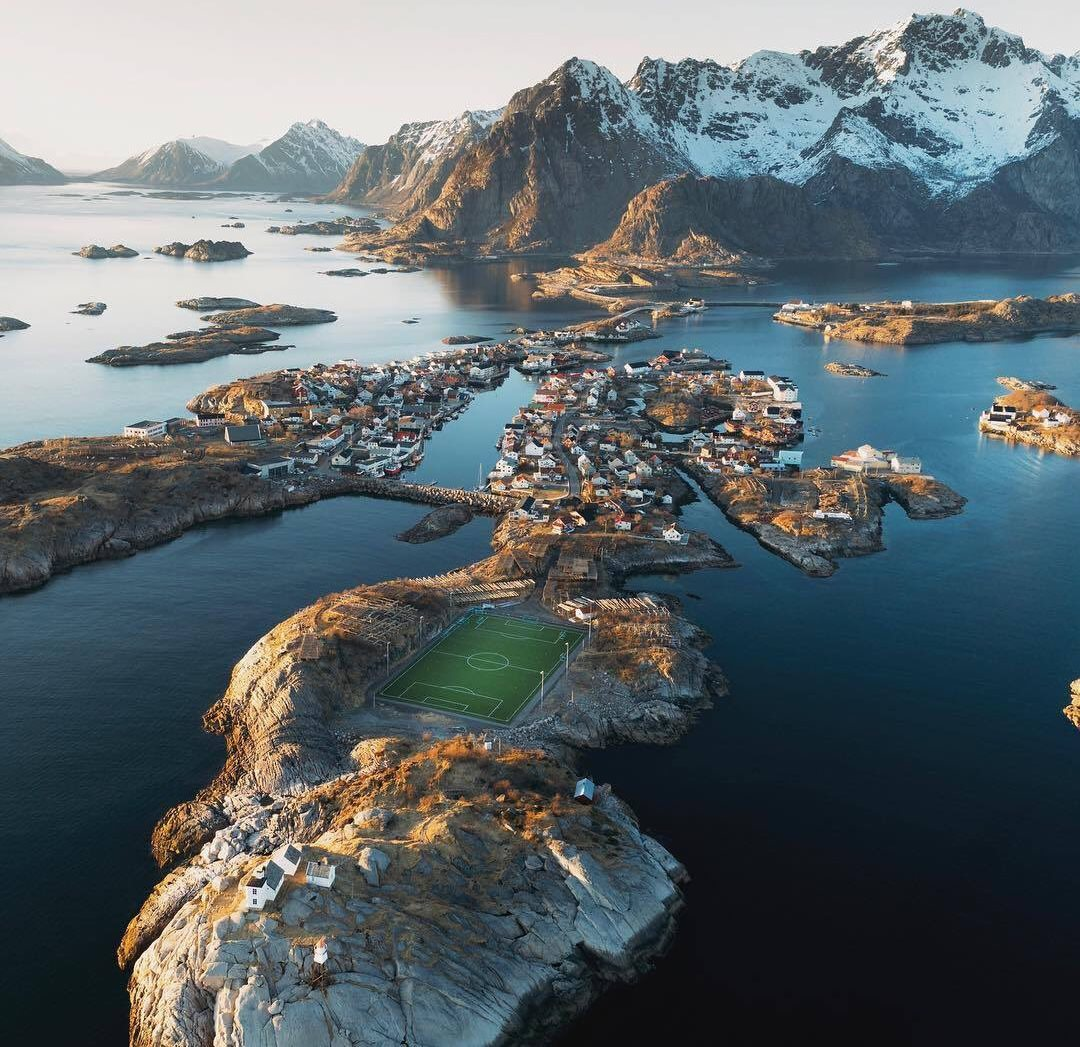 Lofoten Islands football ground