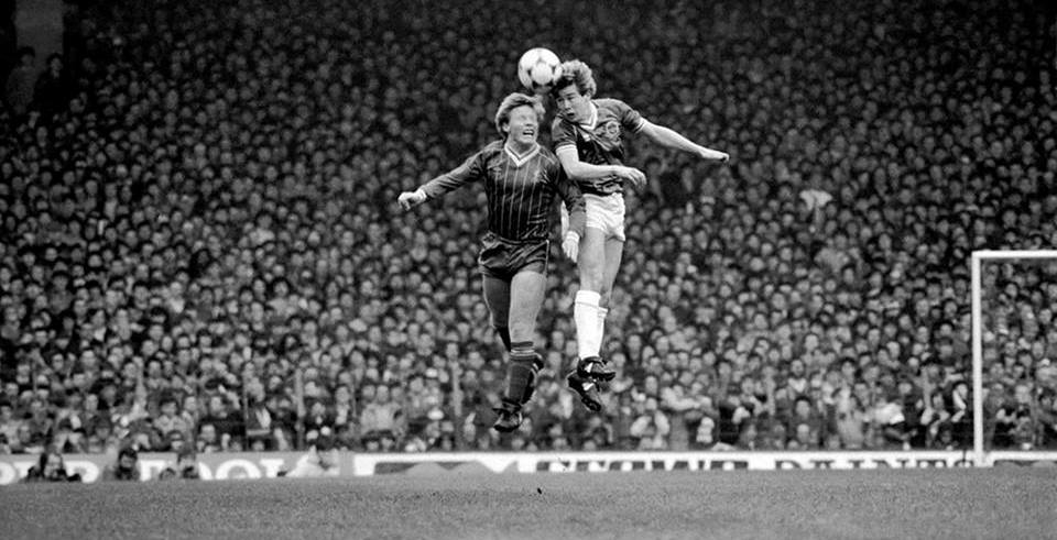 Merseyside derby at Anfield, 0-0, Adrian Heath and Sammy Lee March 1983