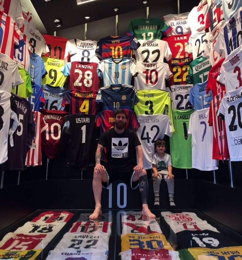 Messi shirt collection
