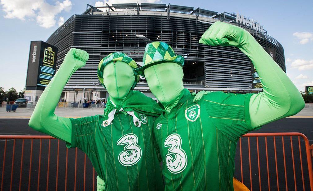Ireland fans get ready for the Mexico v Ireland international friendl
