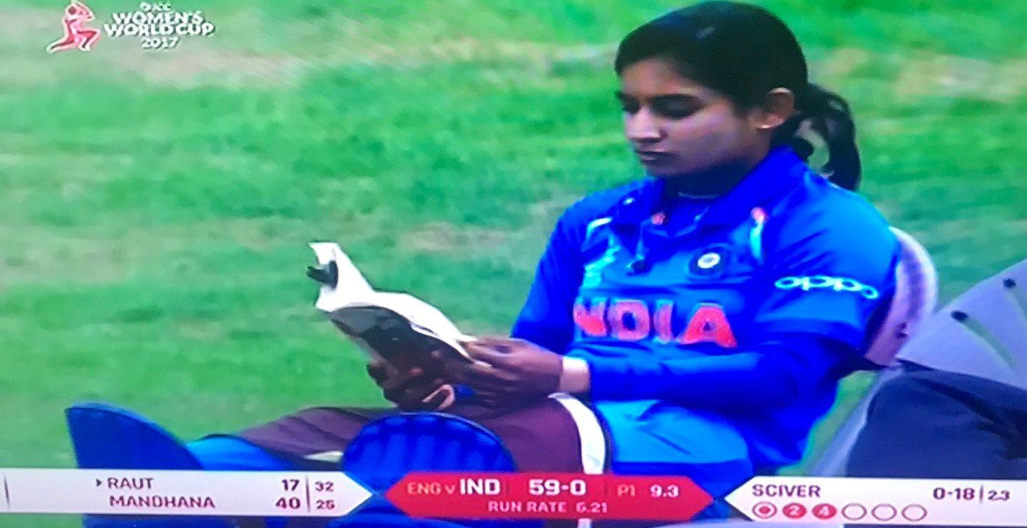 Mithali Raj waiting to bat