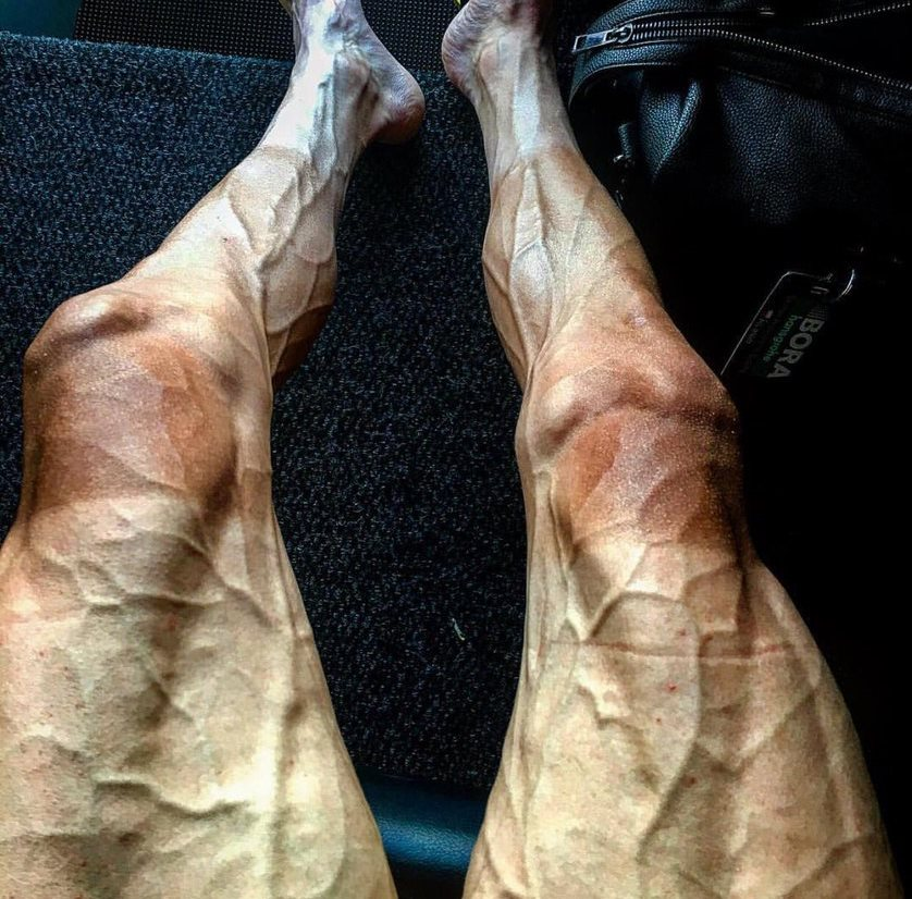Pawel Poljanski shows what your legs look like after 16 stages of the Tour de France