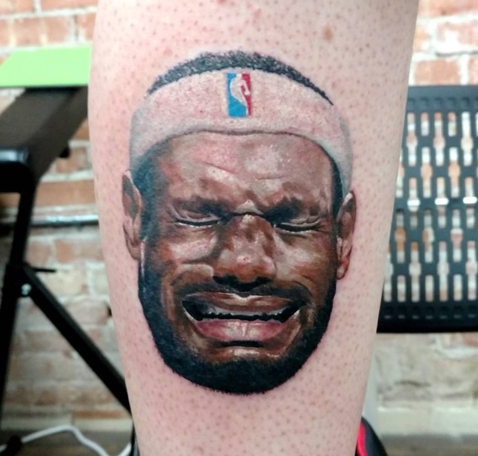 Salt Lake City man gets crying LeBron tattoo