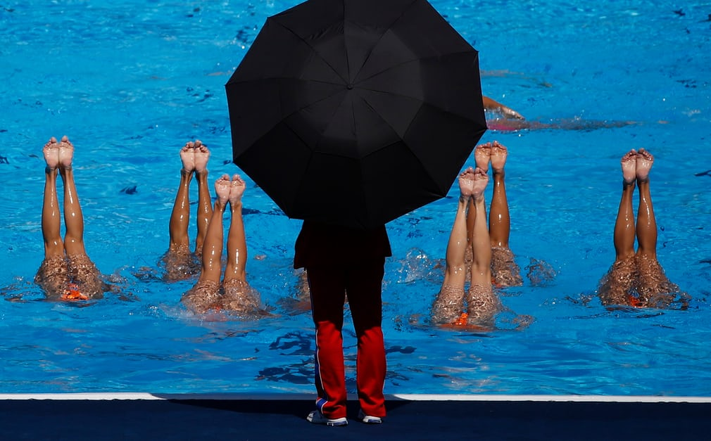 The North Korean team practise at the Fina World Aquatics Championships More from Budapest