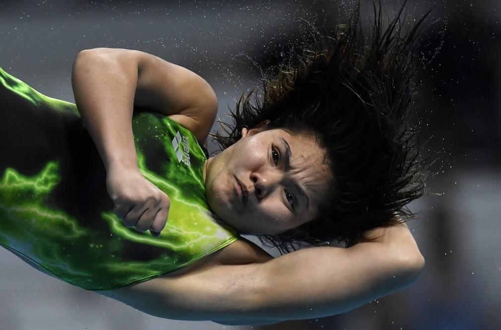 Nur Dhabitah Binti Sabri of Malaysia in the 3m springboard final