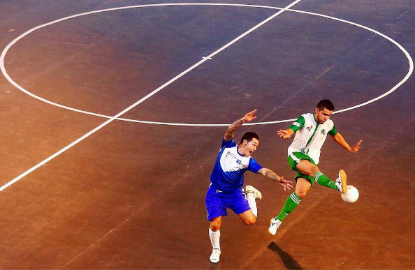 Indian Premier Futsal League game in Bangalore between the Bengaluru Royals and the Mumbai Warriors
