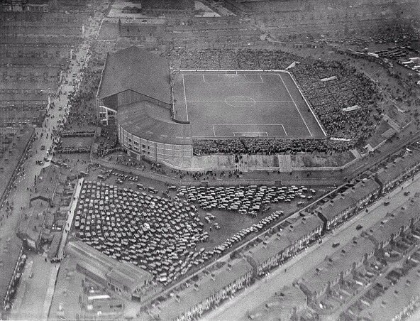 Manchester City's former home at Maine Road in 1934