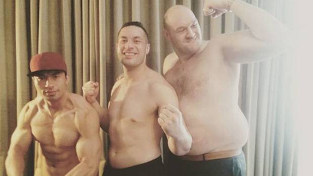 Parker brothers John and Joseph party with former world heavyweight boxing champ Tyson Fury