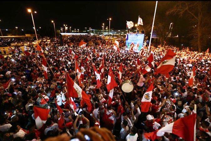 Peru fans in Buenos Aries