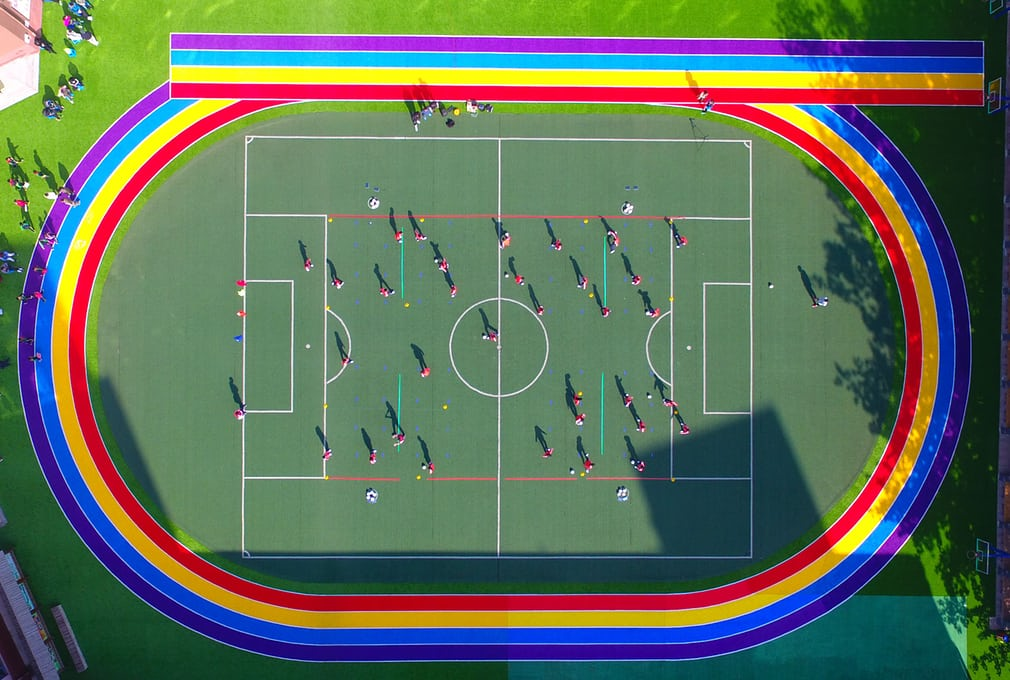 Shenyang China school running track