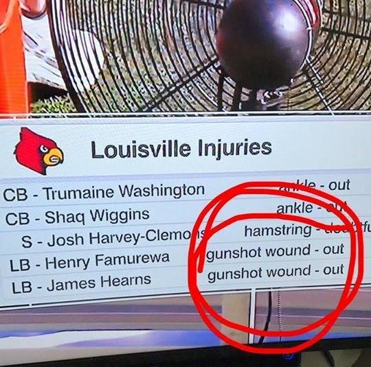 Louisville injuries