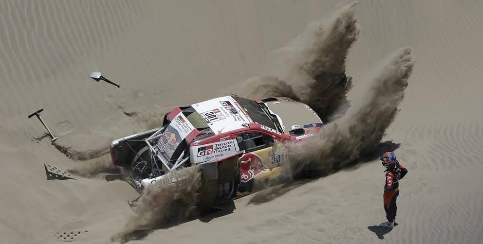 Toyota Hi lux trouble Paris Dakar