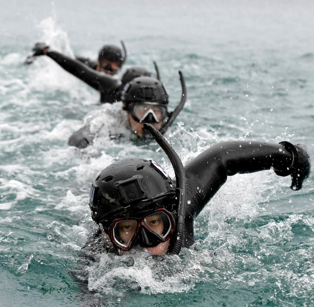 Winter Olympics maritime rescue drill