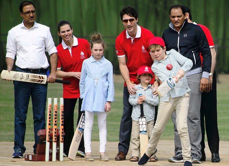 Justin Trudeau cricket around the world