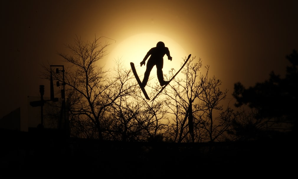 Nordic combined ski jumping