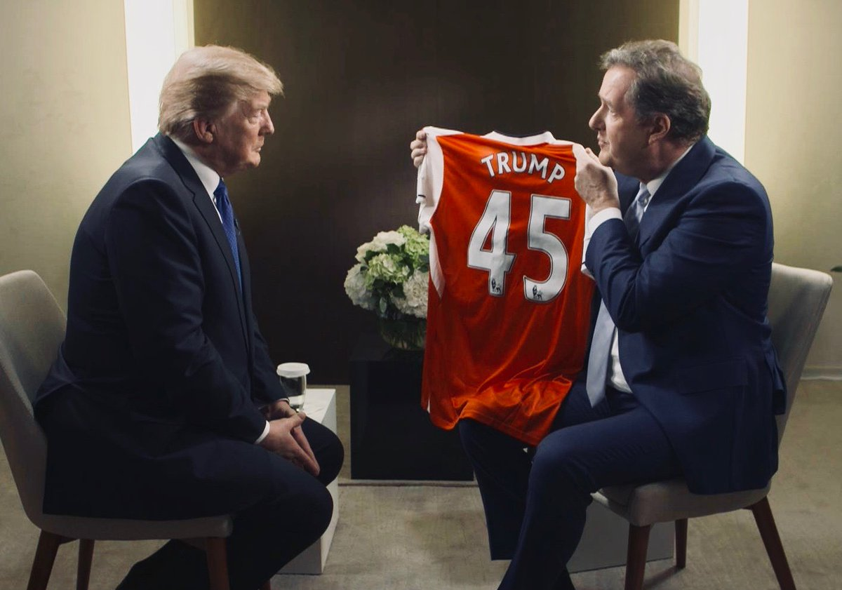 The moment I invite President Trump to be Arsenal new manager because hed build a strong defensive wall have an attacking philosophy & want to win big trophies at all costs