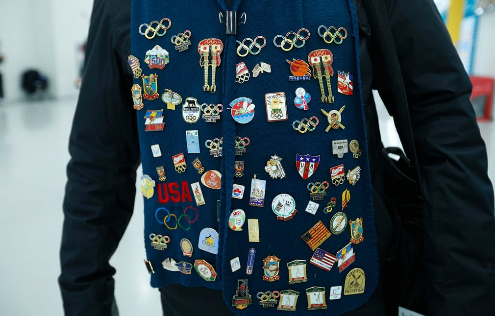 Trading badges and pins is a tradition at the Olympics