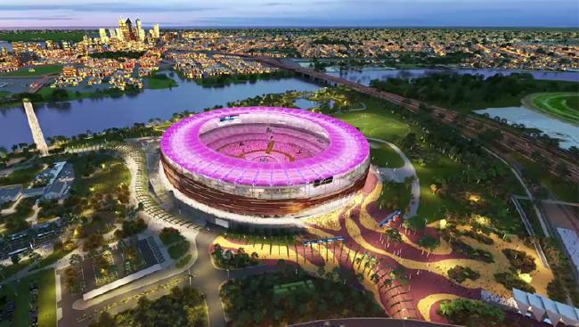 That flash brand new stadium in Perth